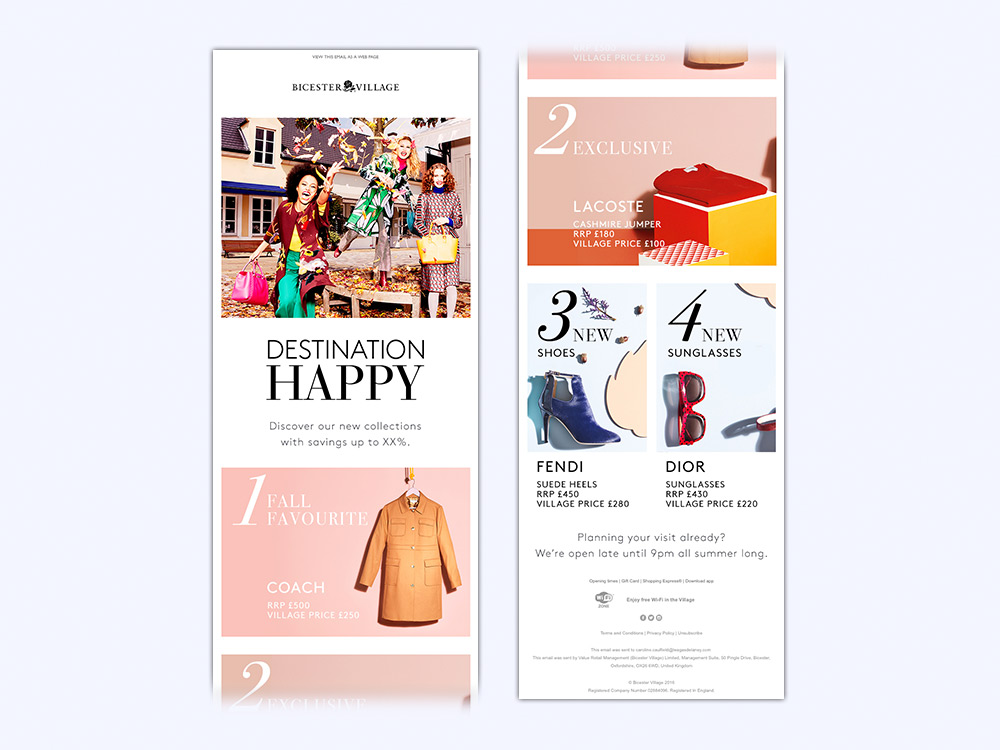 Value Retail - Email - Destination Happy